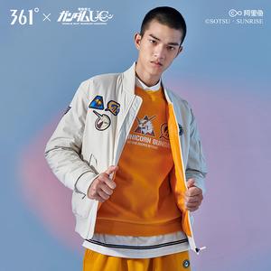 高达独角兽联名|361男装秋季新款短款棉服时尚保暖运动外套棉服男