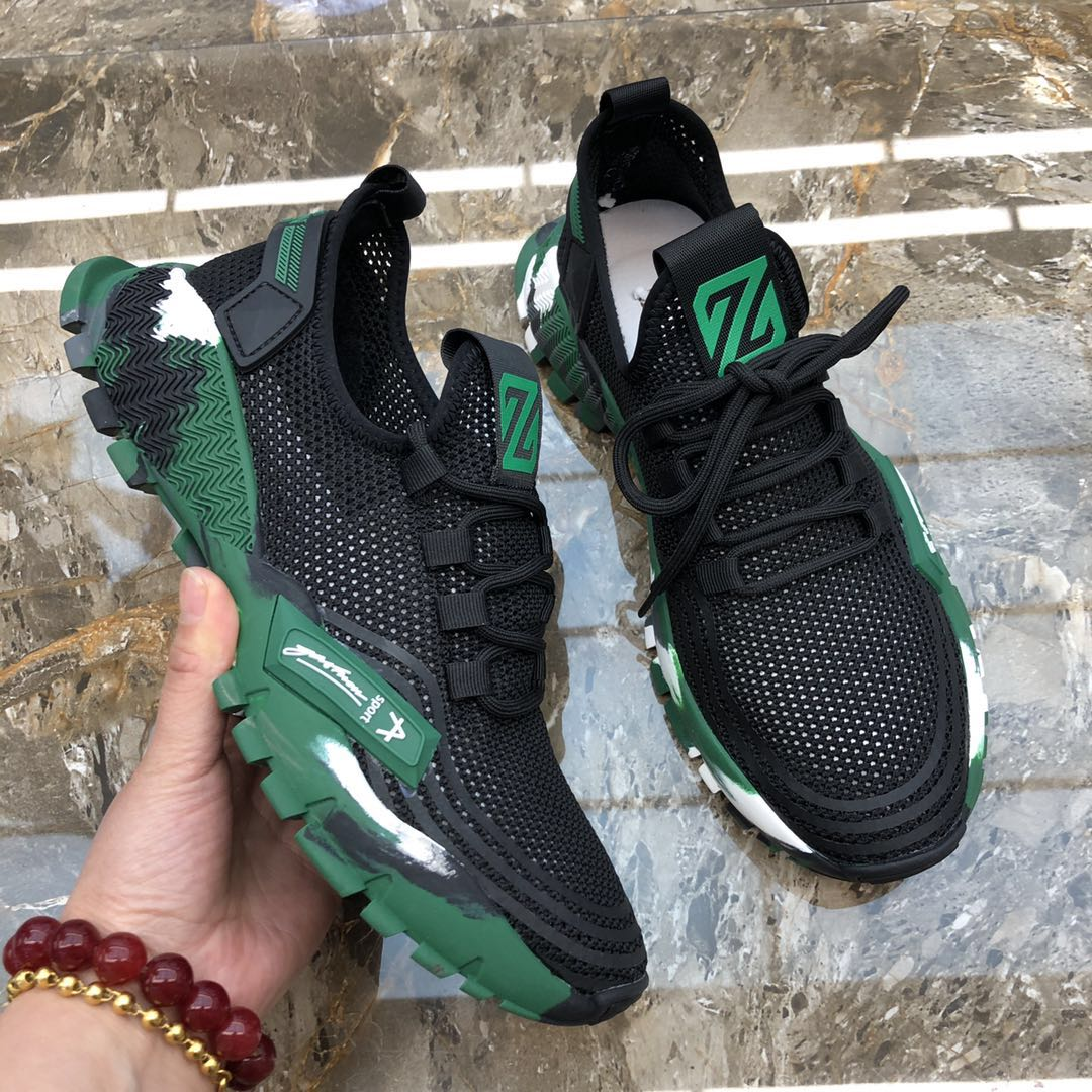 New low top rubber sole single mesh casual shoes mens mesh hollowed out camouflage bottom youth trend fashion mens shoes