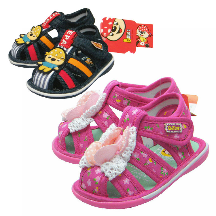Summer 2017 Bator childrens shoes childrens Cloth Sandals soft bottom anti slip shoes baby walking shoes boys and girls