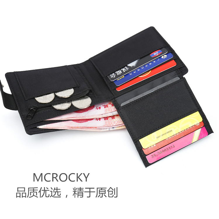 Canvas nylon mens and womens leisure short wallet 20% off multi Card Wallet Student Wallet Korean version
