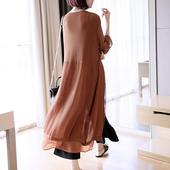 宽松薄款 中长款 雪纺空调衫 夏季 早秋季 防晒开衫 外套女士冰丝针织衫