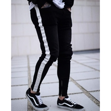 Skin jeans men streetwear male pants