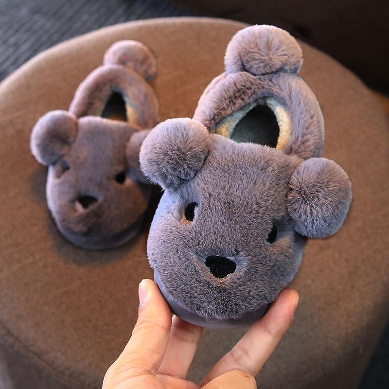 (用49.1元券)秋冬季男女童小孩室内儿童棉拖鞋
