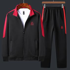 休闲运动套装男爸爸秋装运动装外套