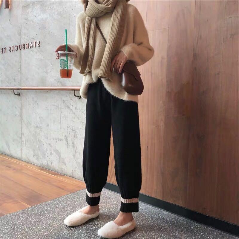 2019初秋网红抖音小香风阔腿裤洋气矮个子显高时髦时尚两件套装女