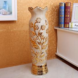 欧式花瓶摆件大号客厅电视柜玄关落地插花创意个性高奢华陶瓷瓷器图片