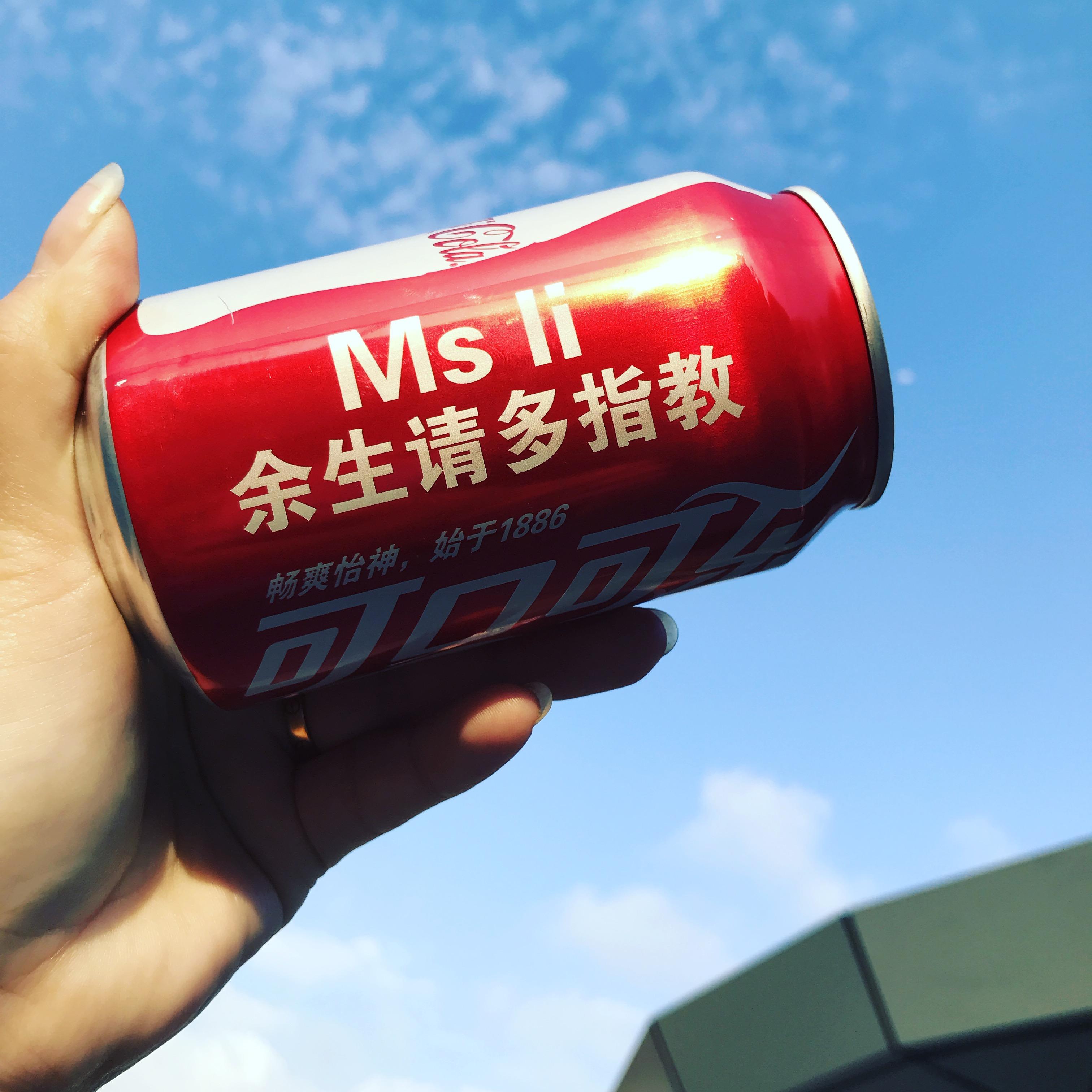 80.00元包邮百事/可口可乐易拉罐个性定制文字