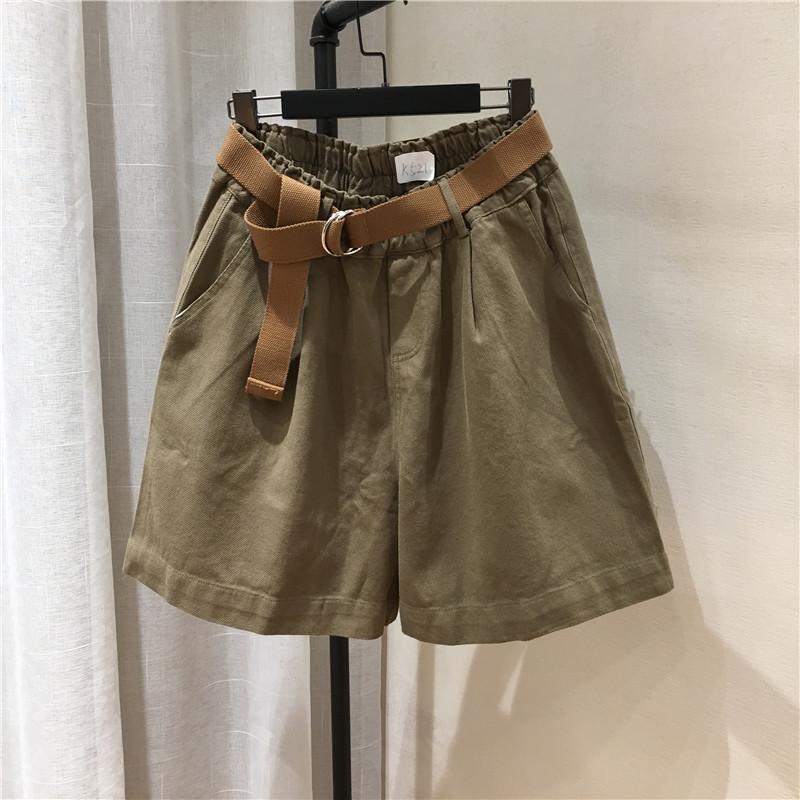 光板时髦洋气工装五分裤棉布休闲裤(非品牌)