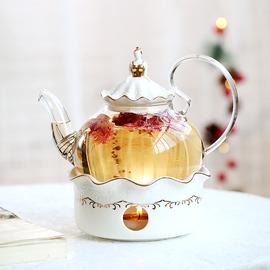 那些时光 花茶壶 蜡烛加热水果茶壶套装 耐热玻璃下午茶花果茶壶