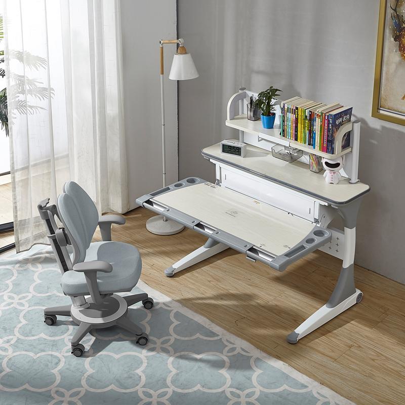 出口德国儿童书桌实木学习桌椅套装男女孩学生宝宝写字家用课桌椅