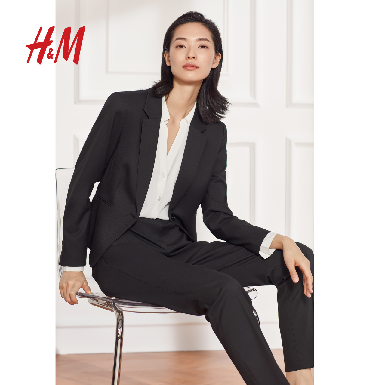 HM women's casual suit women's top suit 2020 spring new air slim suit coat women's 0568601