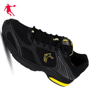 乔丹男鞋超轻透气全黑色运动鞋2020夏季薄网面透气鞋跑步鞋工作鞋