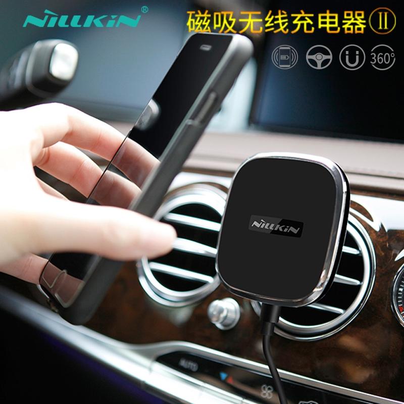 耐尔金iphoneXS磁吸支架Qi小米无线充电器三星S98Plus苹果Max专用