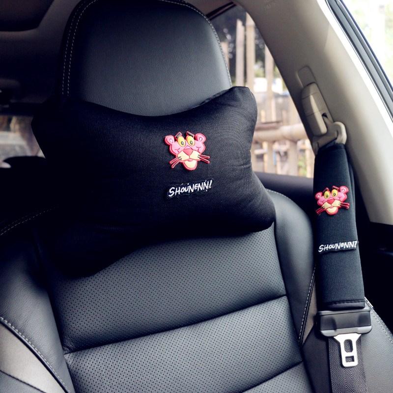 汽车可爱头枕护肩套装四季手刹套档把套车载套饰卡通
