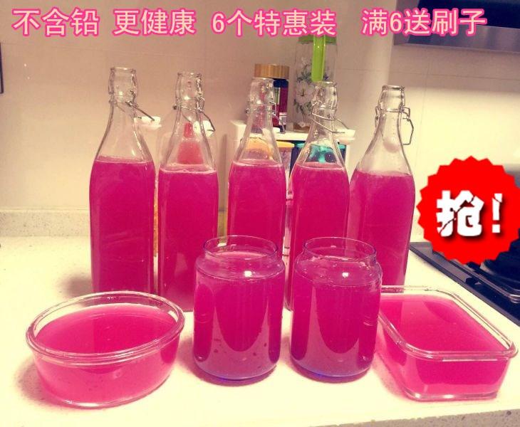 上新6个装和风来酵素桶无铅孝素酵素密封瓶葡萄红酒瓶透明卡扣玻