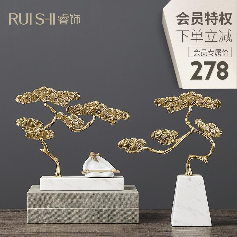 新中式禅意摆件别墅样板间软装饰品博古架玄关艺术摆设家居饰品