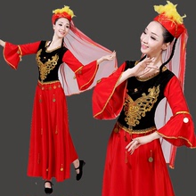 New Xinjiang Dance Costume Uygur Stage Performance Costume Minority Hui Clothing Adult