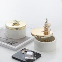 Американский керамика позолоченный ювелирные изделия ювелирные изделия в коробку конфеты хранение бак рабочий стол tide декоративный украшение
