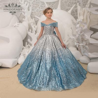 王室宝贝儿童模特走秀礼服小女孩公主裙洋气儿童晚礼服高端生日裙