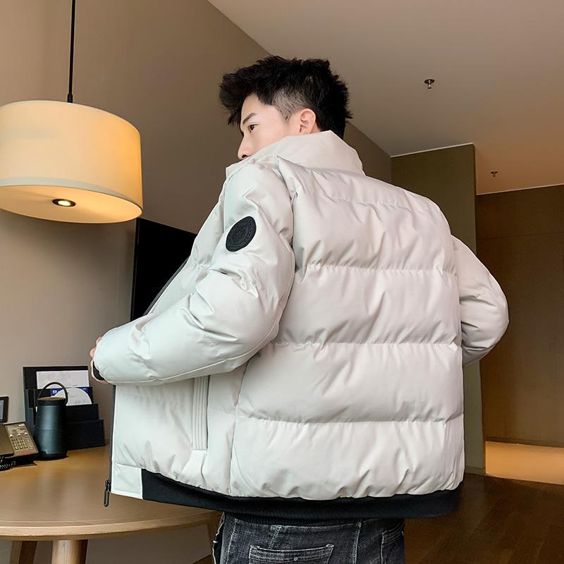 苏格森棉衣男士冬季外套时尚休闲短款印花面包服韩版立领加厚棉服
