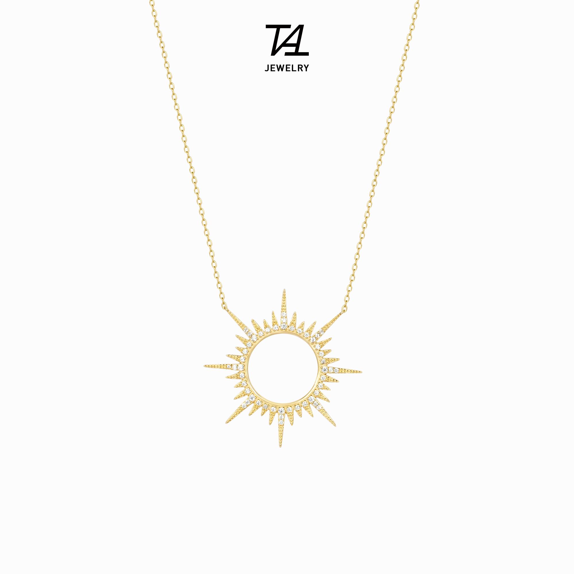 [tat旗舰店项链]Tat小众设计925纯银太阳轻奢项链月销量193件仅售149元