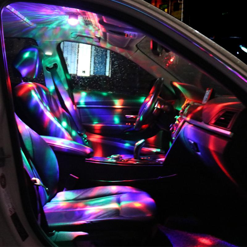 汽车led氛围灯DJ七彩灯车载音乐节奏灯车内呼吸灯声控爆闪装饰灯