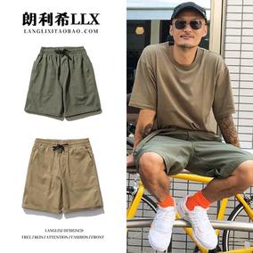工装男夏季日系潮牌余文乐大短裤