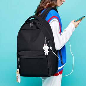 高中双肩背包女2019新款韩版潮大容量校园初中书包女大学生电脑包