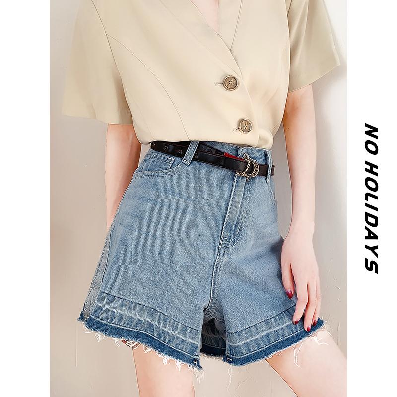 【无假期的人】品质好/港风复古牛仔短裤女夏