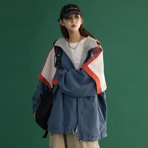 两面穿外套女冬季2020新款白鸭绒羽绒服工装冲锋衣女秋冬加厚棉服