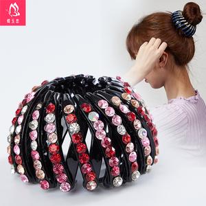 韩国马尾扣发圈鸟巢发夹盘头发卡抓夹丸子头盘发器懒人神器头饰女