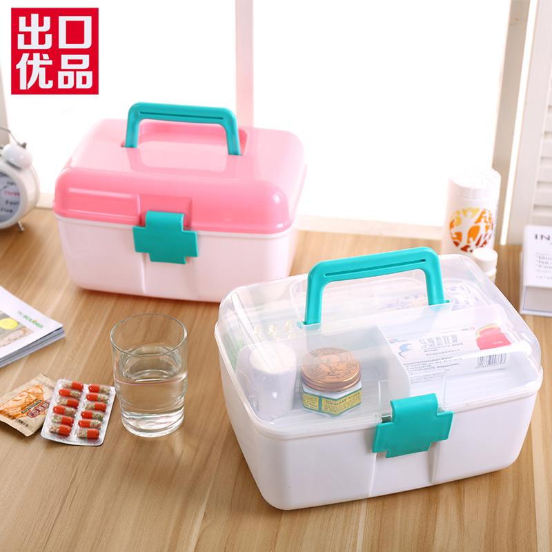 沃之沃醫藥箱藥品收納盒塑料炫彩密封卡扣儲物箱整理箱收納箱