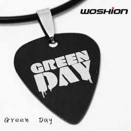 个性摇滚金属朋克钛钢吉他拨片项链 Green Day 绿日