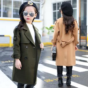 女童毛呢外套秋冬2020新款韩版洋气