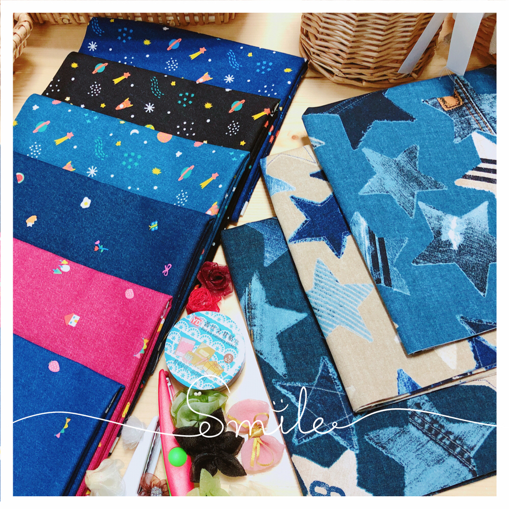 Cartoon lovely fabric DIY patchwork fabric fabric Kokka cotton printed denim thin sail fabric head imported from Japan