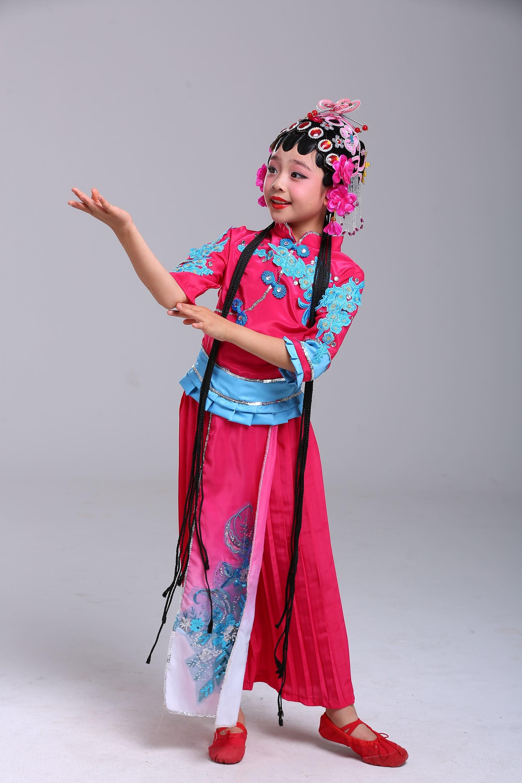 儿童戏服京剧舞蹈演出服小红娘小花旦俏花旦水梨园表演服戏曲服装