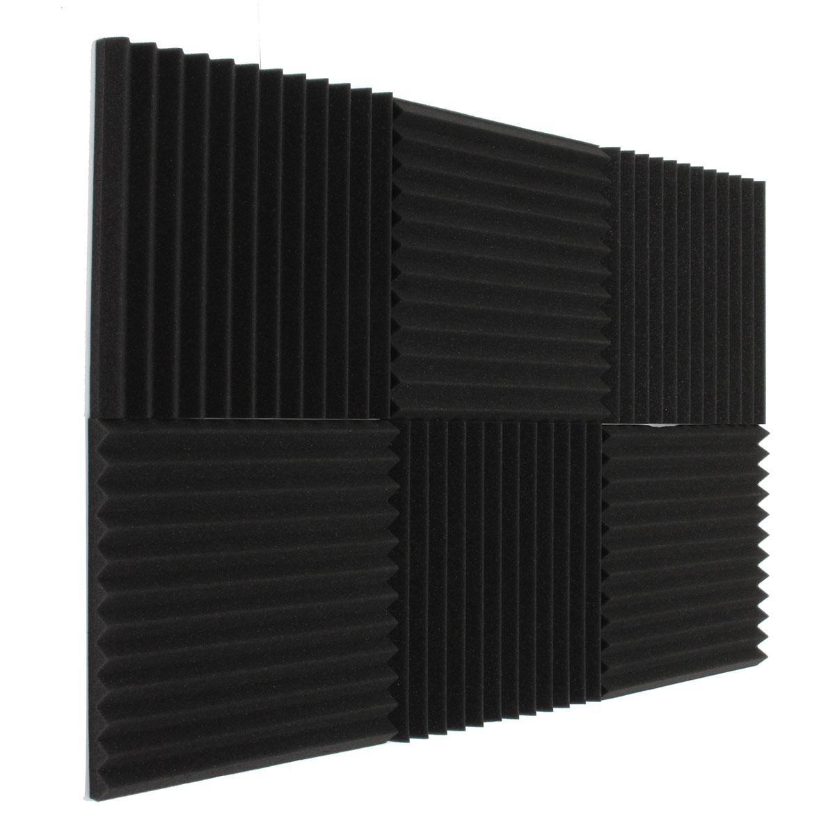 newest 6x acoustic foam wedge tiles studio sound proofing ro