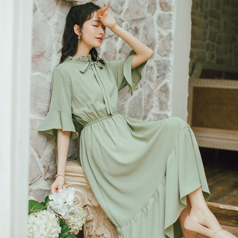 到脚踝日系甜美仙气超仙森系连衣裙女夏2020新款学生长裙仙女裙子