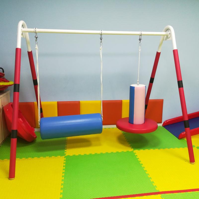 A-Frame perceptual swing hanging cable vertical holding barrel horizontal holding barrel inserting stick hanging bag childrens suspension perception training equipment