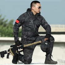 Outdoor fan costume police black python tattoo camouflage suit male special Forces field training clothing combat clothing winter