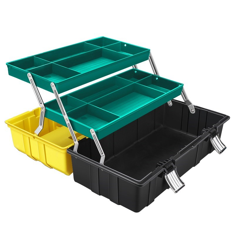 折叠工具箱存放盒子家用小型家电维修修理加厚装修大号小号安装
