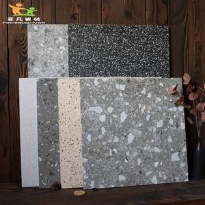 水磨石瓷砖800X800客厅灰色防滑地砖600x600商铺餐厅卫生间仿古砖