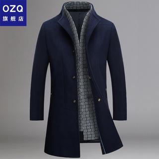 毛呢大衣男中长款冬季韩版潮流加厚呢子外套男士风衣2020新款男装