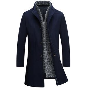毛呢大衣2020新款冬季男裝中長款外套男士韓版潮流羊毛呢子風衣男