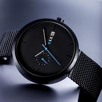新款极简风手表男品牌正品男士国产腕表防水黑科技学生潮流GLX