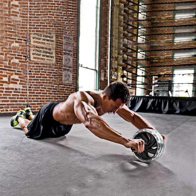 健腹轮腹肌轮运动收腹男用品器材家用健身双轮巨轮机体育键腹轮练