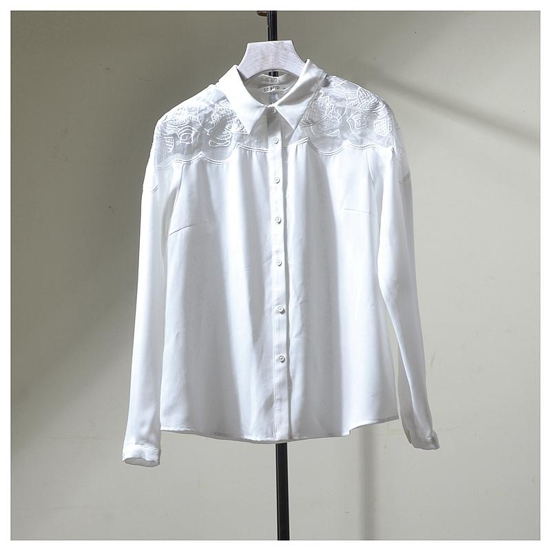 C◆商场撤柜专柜品牌折扣店剪标断码正品女装秋装白衬衫C53R005
