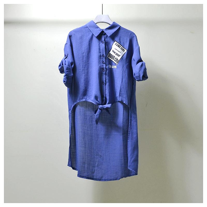 依◆系列商场撤柜专柜女装品牌折扣店剪标正品夏新款前短后长衬衫