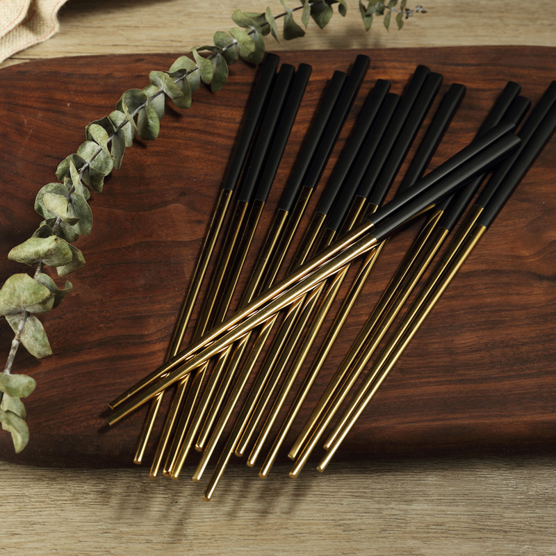 米立风物 304不锈钢筷子套装 样板房筷子 精品家用筷子10双装包邮