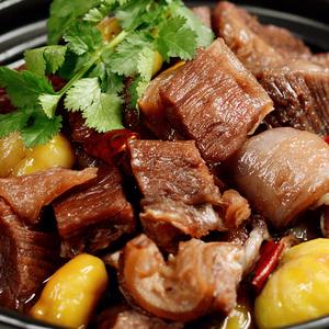 领3元券购买火号板栗牛腩煲500g 红烧牛肉冷冻半成品菜真空方便速食牛肉煲